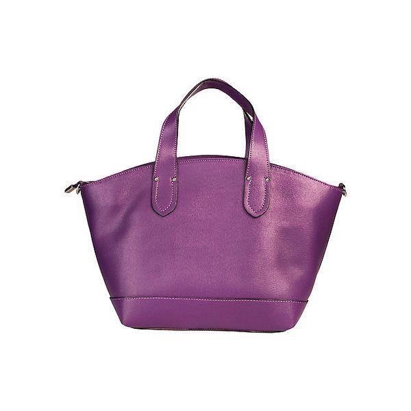 Dámská fialová kabelka se zapínáním na zip Made in Italia