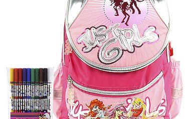 Školní batoh Cool set fixy s motivem Diddl