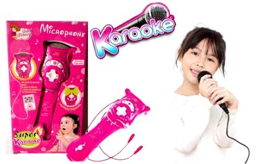 Úžasný dětský mikrofon s karaoke se vstupem na mp3 přehrávač. Přehrajte si oblíbenou hudbu, uspořádejte si doma koncert, předvěďte se na školní besídce nebo ve školce, zazpívejte si s rodiči.