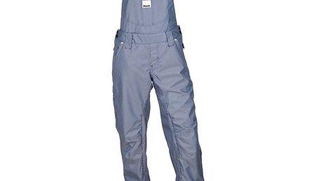 Dámské modře pruhované lyžařské kalhoty s laclem Bench