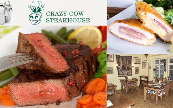 Zimní menu ve steakhousu Crazy Cow s 64% slevou