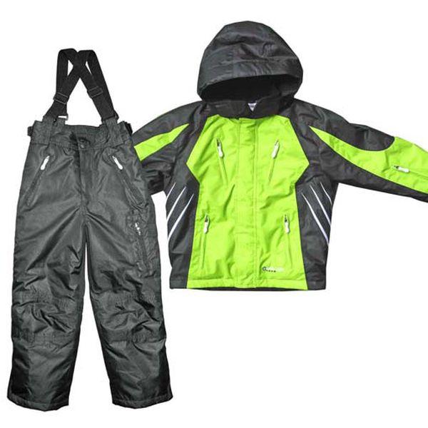 Černo-zelený lyžařský set