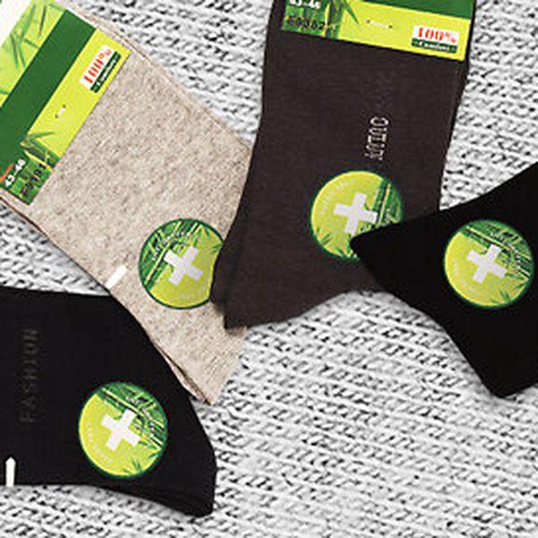 Kvalitní dámské ponožky z bambusového vlákna se zdravotním lemem - mix barev balení 8 ks