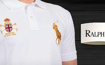 Vsaďte na klasiku: bílé značkové pánské triko Polo Ralph Lauren za 890 Kč! Jen velikost XL!