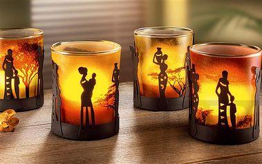 """Sada svícnů """"Africké ženy"""" - fascinující souhra světel a stínů"""