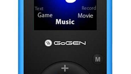 Přehrávač MP3/MP4 Gogen MAXI MP3, 4GB, modrá barva
