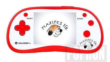 Dětská kapesní hra se 180 arkádovými hrami. GOGEN MAXIHRY180B - červená