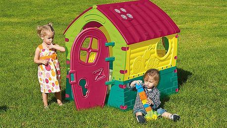 Krásný dětský plastový zahradní domeček
