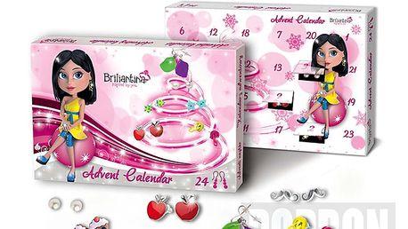 Adventní kalendář Briliantina náušnice