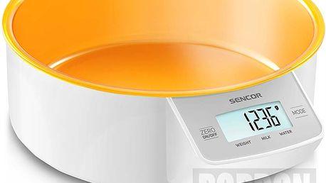 Praktická kuchyňská váha Sencor SKS 4004OR