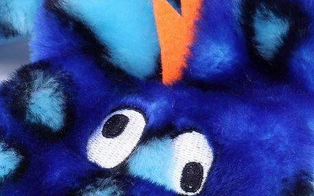 Hračka pro psy Gekon s 2 pískátky Kyjen oranžový, modrá