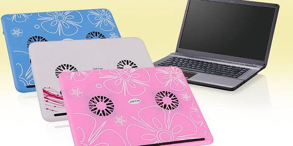 Stylová chladící podložka pod notebook s barevným designem – barevné varianty