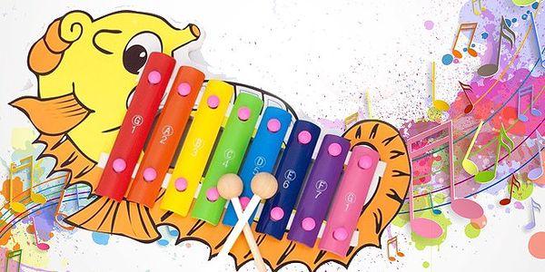 Dětský dřevěný xylofon se slevou