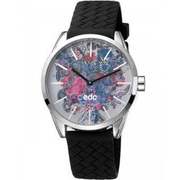 Dámské hodinky EDC by Esprit s květinovým ciferníkem