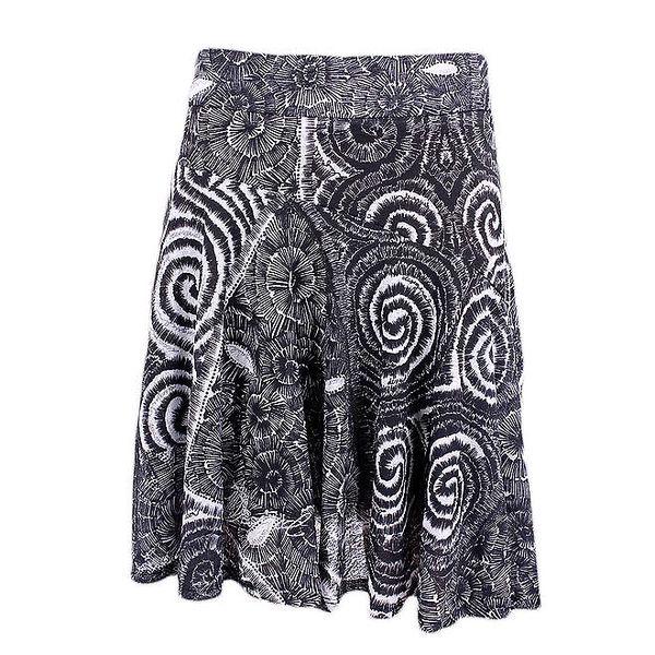 Dámská černo-bílá sukně s potiskem Desigual