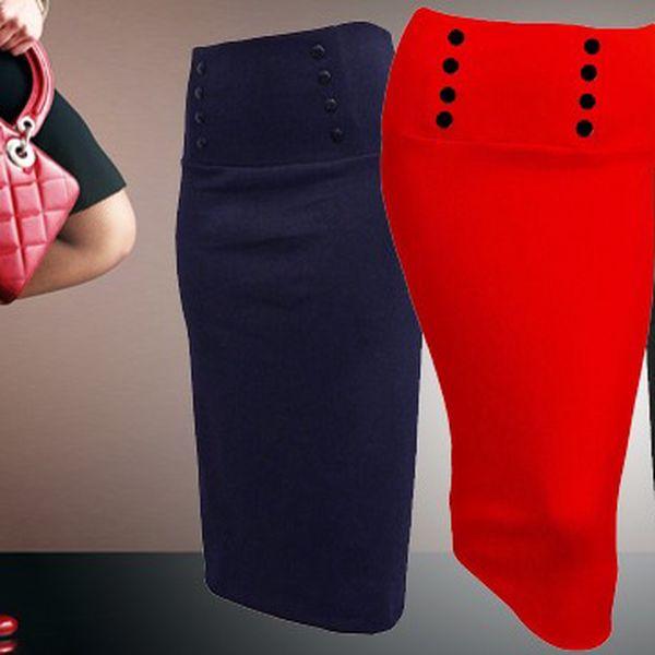 Pouzdrová sukně z úpletu se slevou 50%