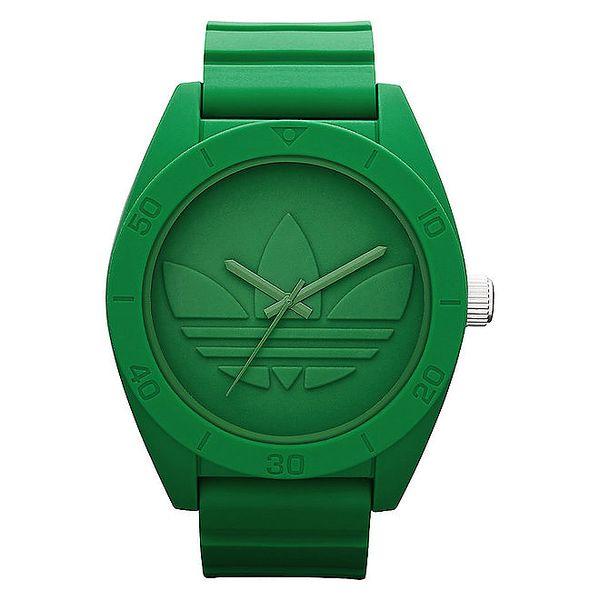 Pánské zelené hodinky Adidas s plastovým obalem