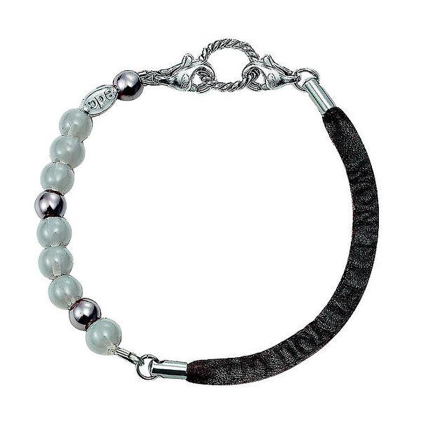 Dámský náramek s perličkami a umělou kůží EDC by Esprit