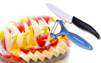 Luxusní sada keramický nůž + škrabka nyní za báječnou cenu. Vařte zdravěji a hlavně chutněji!!!
