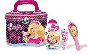 Barbie kovový kufřík - šampón 250 ml+Hřeben, Glitter Gel 50ml