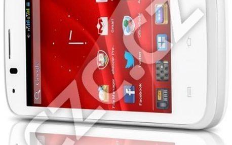 Kvalitní smartphone Prestigio MultiPhone 4055 DUO, bílá