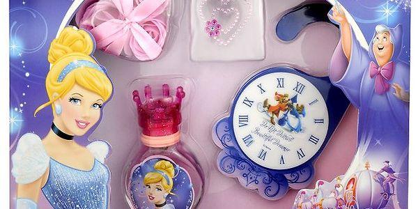 Disney Princezny, Popelka dárková sada - toaletní voda 30 ml, Houbička, Mýdlové růže -pěna do koupele, visačka na dveře, samolepka