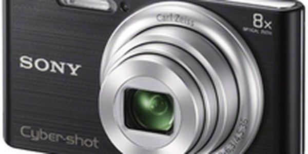 Rodinný kompaktní fotoaparát Sony Cybershot DSC-W730, černá