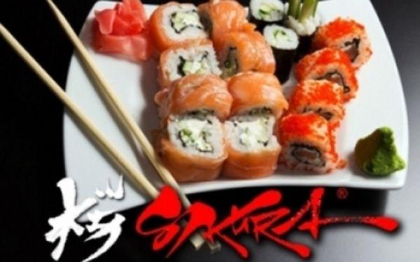 JAPONSKÁ restaurace SAKURA – pravé SUSHI a další japonské a thajské speciality dle vašeho výběru se slevou až 55%! Pasáž Černá růže u metra Můstek v centru P-1!!! Ochutnejte Japonsko ve stylovém prostředí!!!