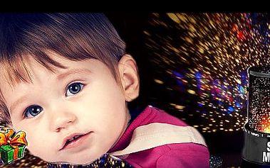 Okouzlující NOČNÍ OBLOHA přímo u vás doma jen za 99 Kč. Promítněte hvězdné nebe nejen v dětském pokojíčku s lampou MASTER STAR. Perfektní dekorace i báječný VÁNOČNÍ DÁREK.