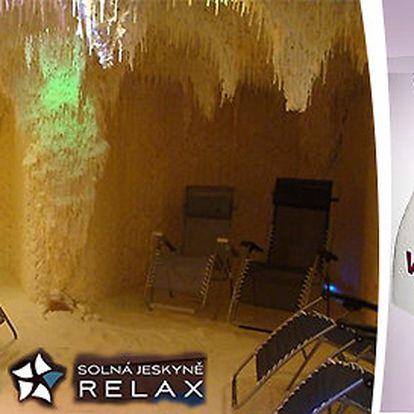 Zdravá relaxace v solné jeskyni a hubnutí ve VacuShape v Praze