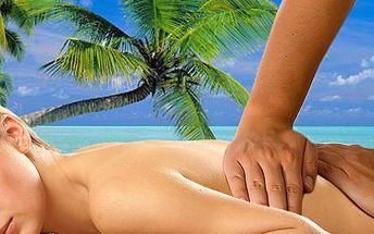 Havajská masáž Lomi Lomi nebo částečná klasická masáž (ruce, nohy, záda) za skvělých 324 Kč!