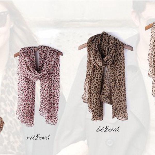 Šátek s leopardím vzorem