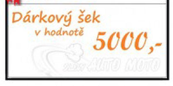 Dárková poukázka v hodnotě 5000 Kč od Autofolie Praha s.r.o.