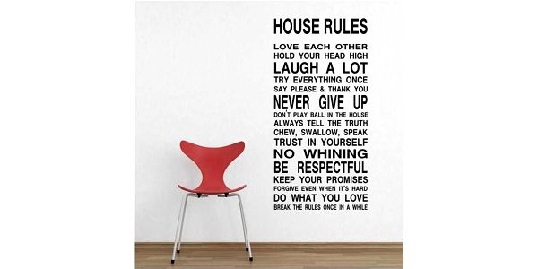 Nálepka s domovními pravidly - v angličtině a poštovné ZDARMA! - 7206378