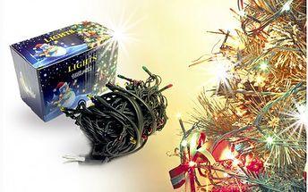 Vyberte si barevné nebo bílé vánoční led osvětlení za báječnou cenu 129 Kč! Vyměňte staré a poruchové žárovkové řetězy a přejděte na moderní a úsporné LED DIODY! Řetězy jsou 9,4 metru dlouhé a mají osm programů.