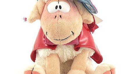 Nádherná plyšová bílá ovečka Vanillivi z kolekce Diddl a jeho přátelé, červená pláštěnka a klobouček.