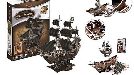Loď černá perla - 3d paper puzzle!! Nádherná stavebnice!!