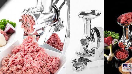 Kvalitní mlýnek na maso. Chcete mít jistotu, že mleté maso je opravdu kvalitní, nyní máte pro Vás řešení. Připravte si mleté maso v pohodlí domova!