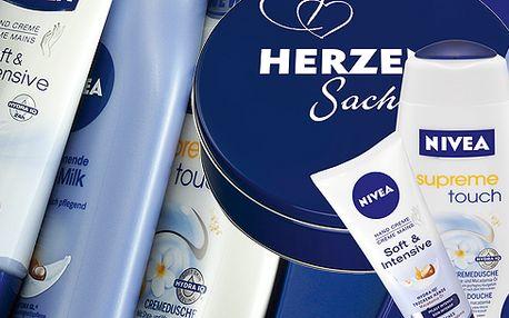 Dárková sada NIVEA se slevou 60% Výhodné balení, kterým uděláte pod stromečkem radost každé ženě. Balení obsahuje: Tělové mlého 250ml, Intenzivní krém na ruce 100ml a další....