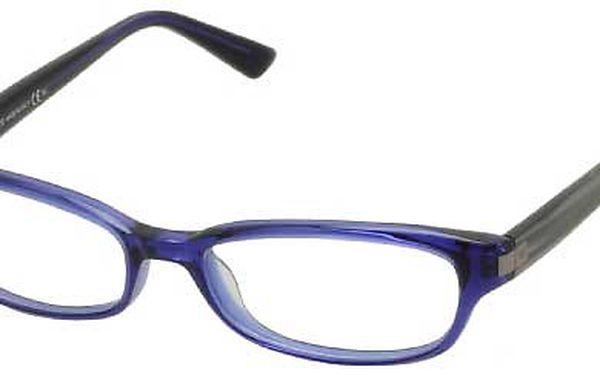 Modré hranaté brýle Emporio Armani