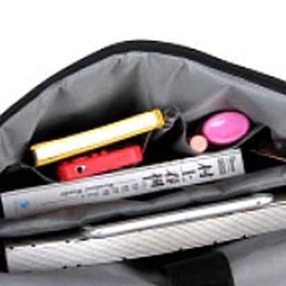 Kreativní pixelová taška přes rameno - oranžová/černá