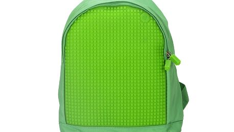 Kreativní pixelový dětský batoh - zelený