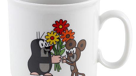 Hrneček krteček s myškou a květinou