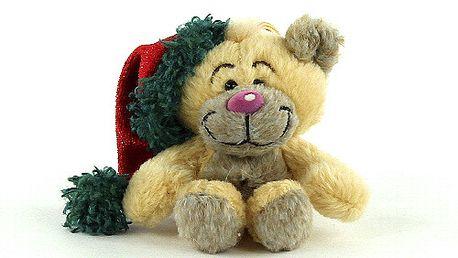 Nádherný plyšový medvídek Pimboli z kolekce Diddl a jeho přátelé, čepička Santa Clause.