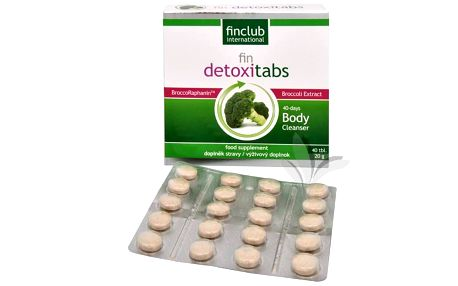 Finclub Fin Detoxitabs 40 tbl. přípravek na detoxikaci
