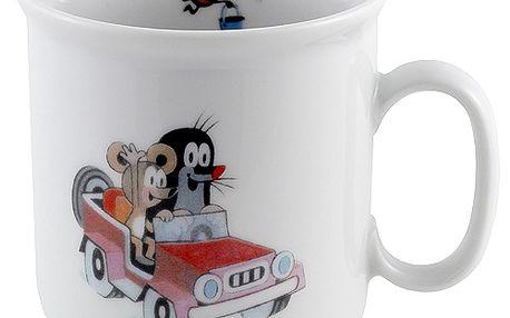 Hrneček krteček s myškou v autě