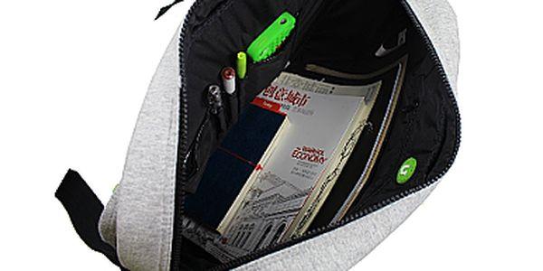 Kreativní pixelová taška přes rameno i pro notebook - šedá/žlutá