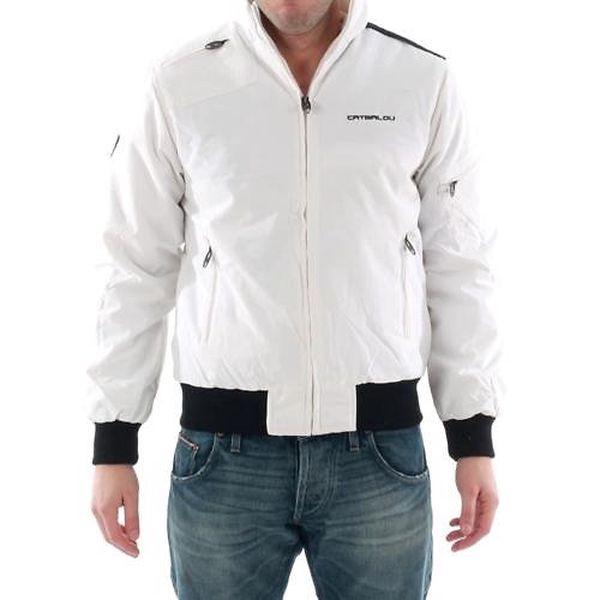 Pánská bílá bunda Catbalou