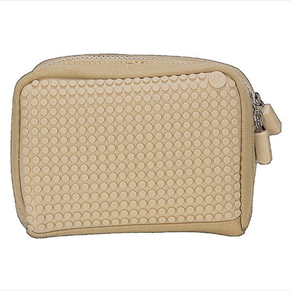 Pixelová peněženka/taštička pro nevšední dámy - béžová