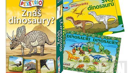 Sada her Dinosauři - hrajte, malujte, vystřihujte!